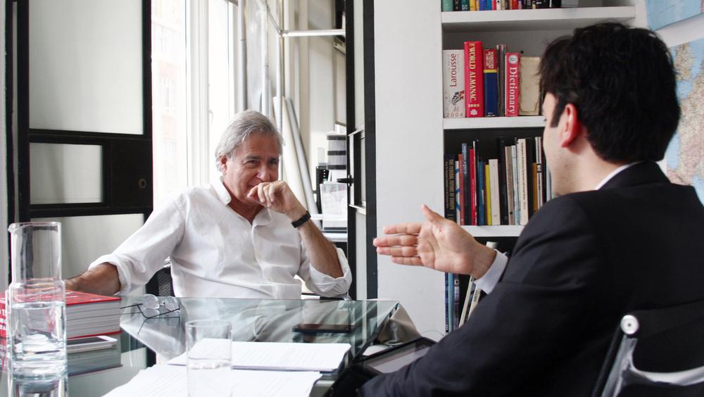 Bernard Tschumi with Iman Ansari