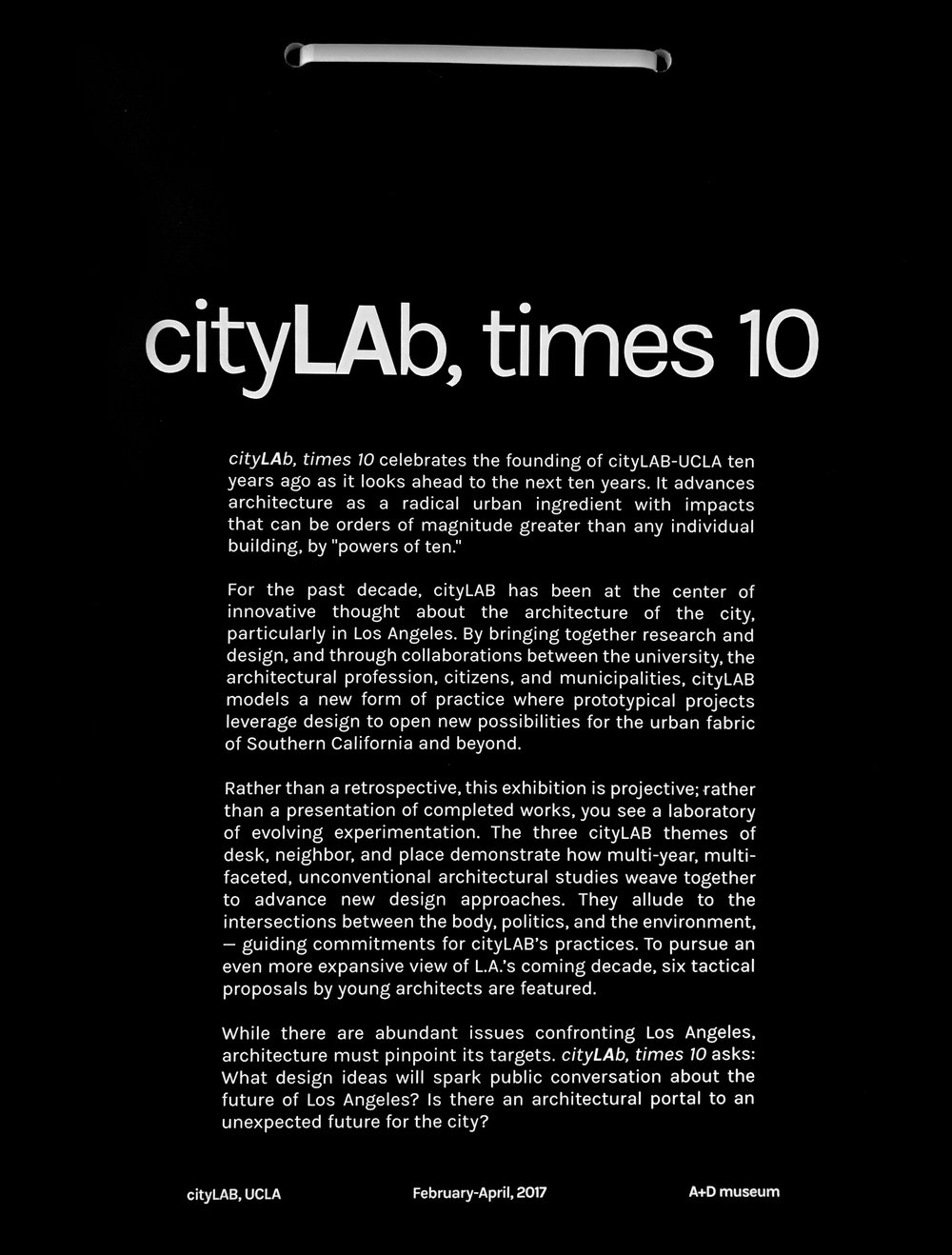 cityLAb, times 10_AN.ONYMOUS