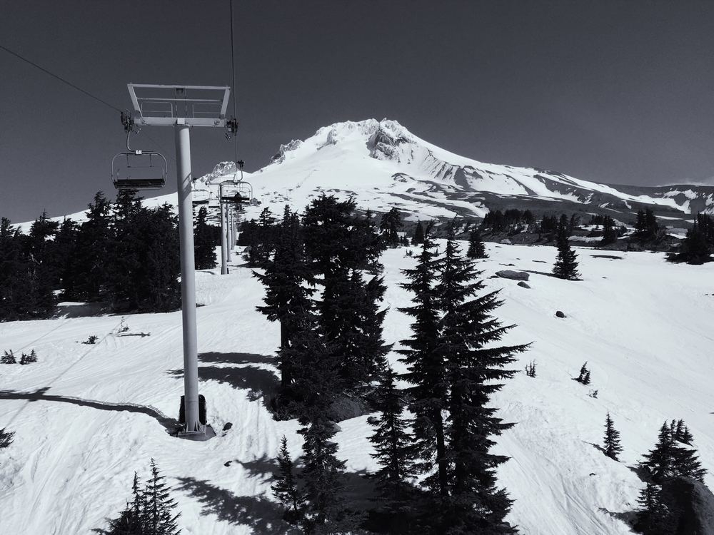 Ski Lift on Mount Hood