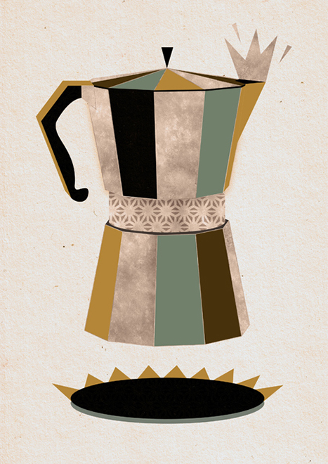 Project:  Late Night Coffee. Self-initiated, 2011.  Art Prints  available at  Society6  &  Artflakes