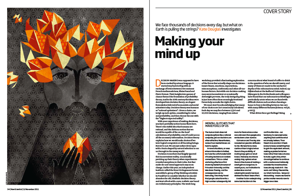 Project:Decision Making, 2011.Client:New Scientist