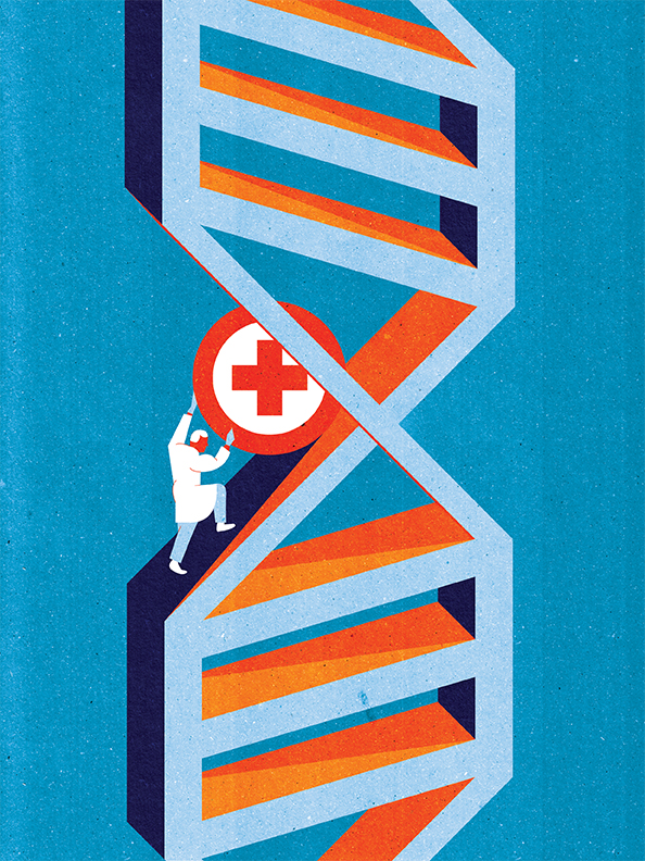 Project: Gene Therapy's Second Act. Client: Scientific American Magazine, March 2014