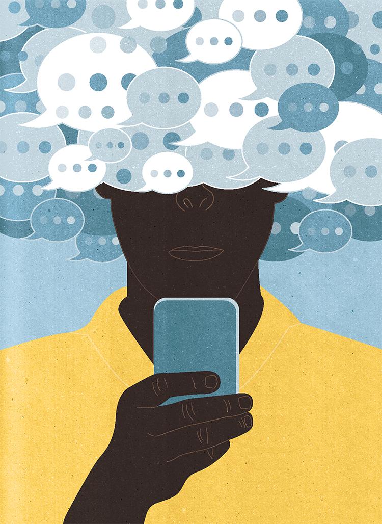 Project:Technology column: Chat Etiquette Client:Smithsonian Magazine, 2016