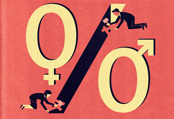 Project:Next Frontiers in Gender Diversity: spread illustration on closing gender gap.Client:Global Management Consulting Firm, 2014