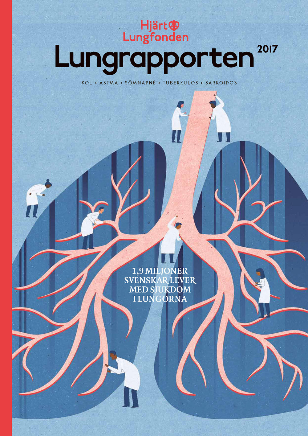 Project:Lung Report Cover,Client:Heart-Lung Foundation (Hjärt-Lungfonden)Agency: Appelberg,2017