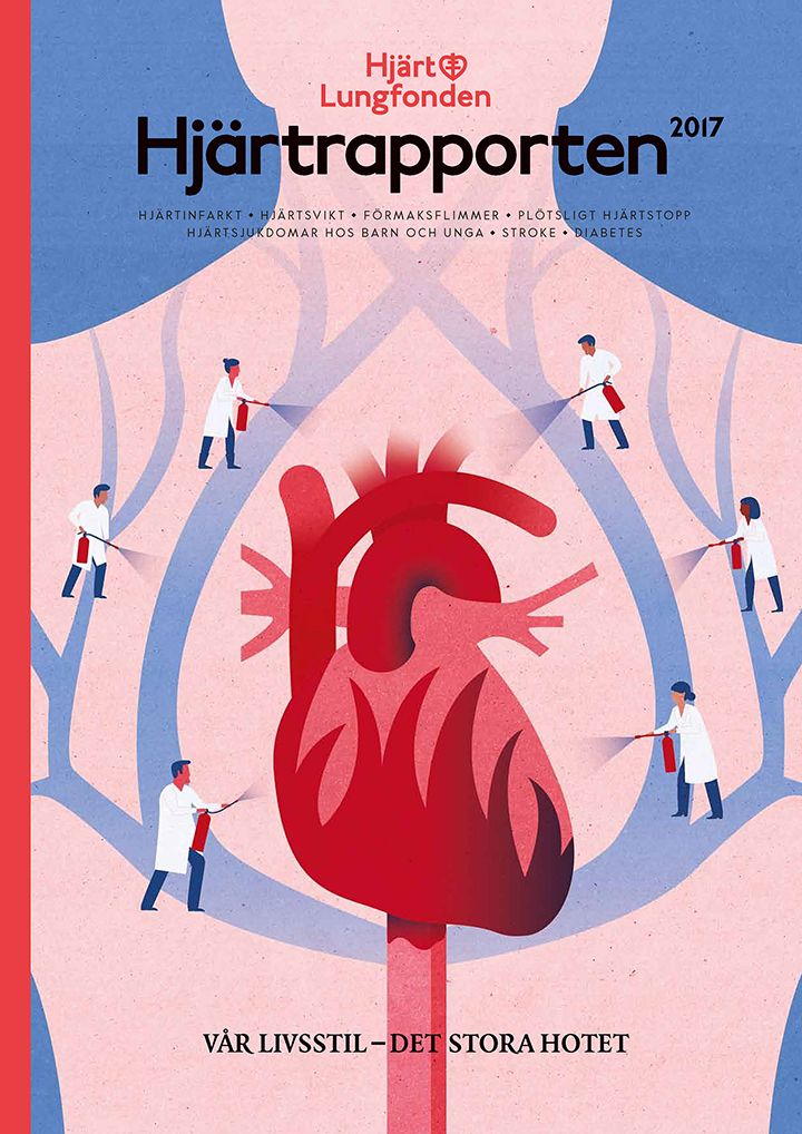 Project:  Cover for the   Heart Report  ,  Client:    Heart-Lung Foundation (Hjärt-Lungfonden)    Agency:    Appelberg,   2017
