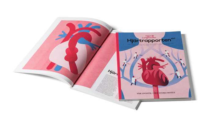 Project:    Heart Report  ,  Client:    Heart-Lung Foundation (Hjärt-Lungfonden)    Agency:    Appelberg,   2017