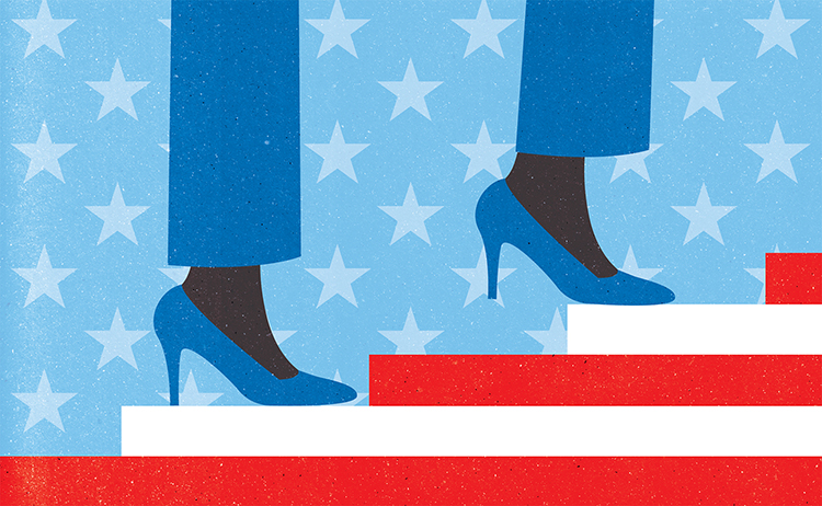 P    roject:  Trump's election electrified women candidates and voters who organized, united, and now are aiming for the Congress in November,  Clie    nt:  AMERICA magazine (France), 2018