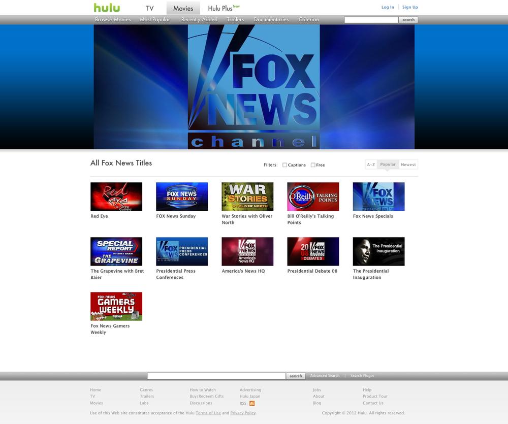 Hulu Channel for Fox — Vidya Nayak