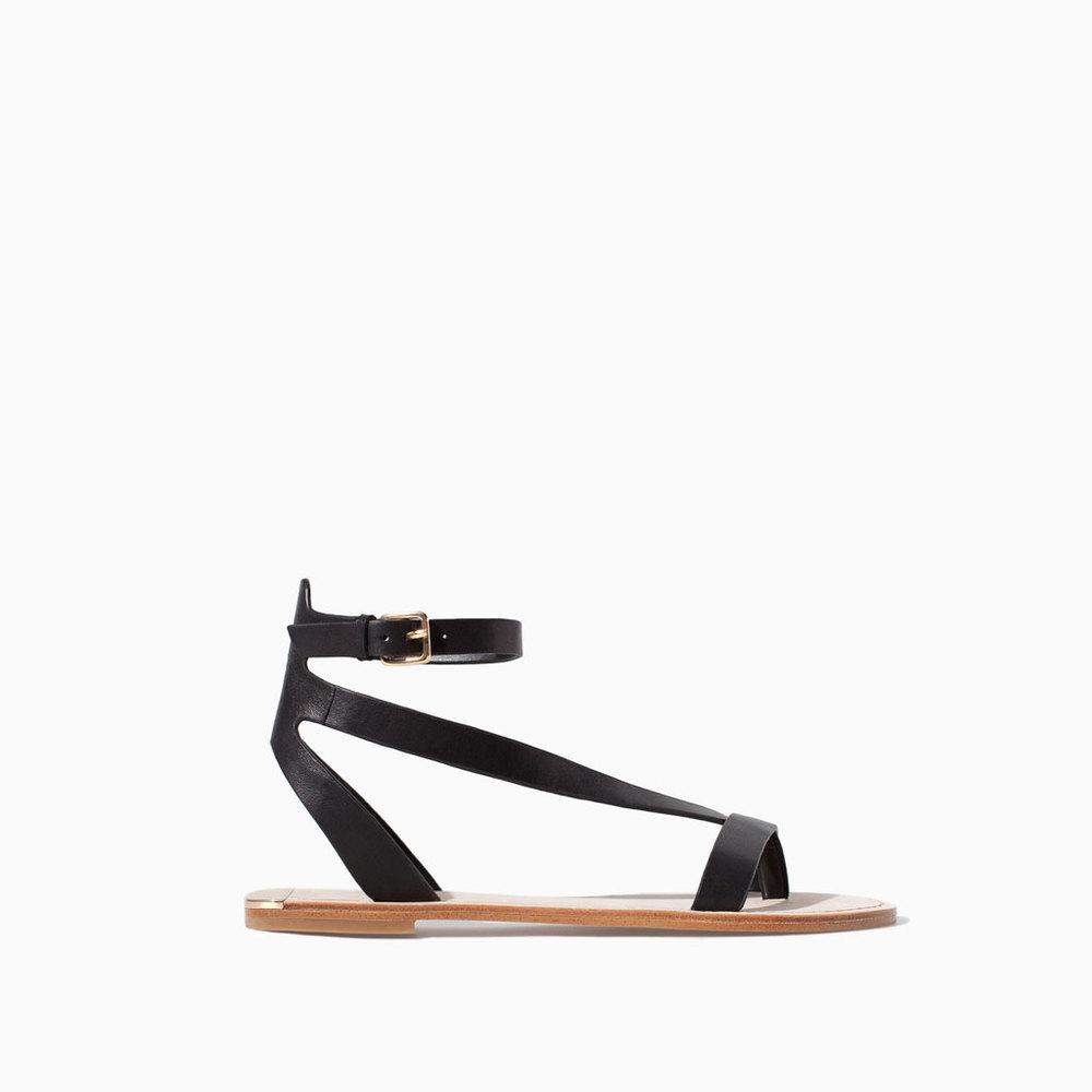 Ankle strap sandal, £39.99, Zara