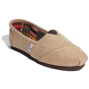 TOMS Slip On in Natural Burlap £35