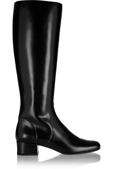 Saint Laurent Polished Leather Knee Boot £885.