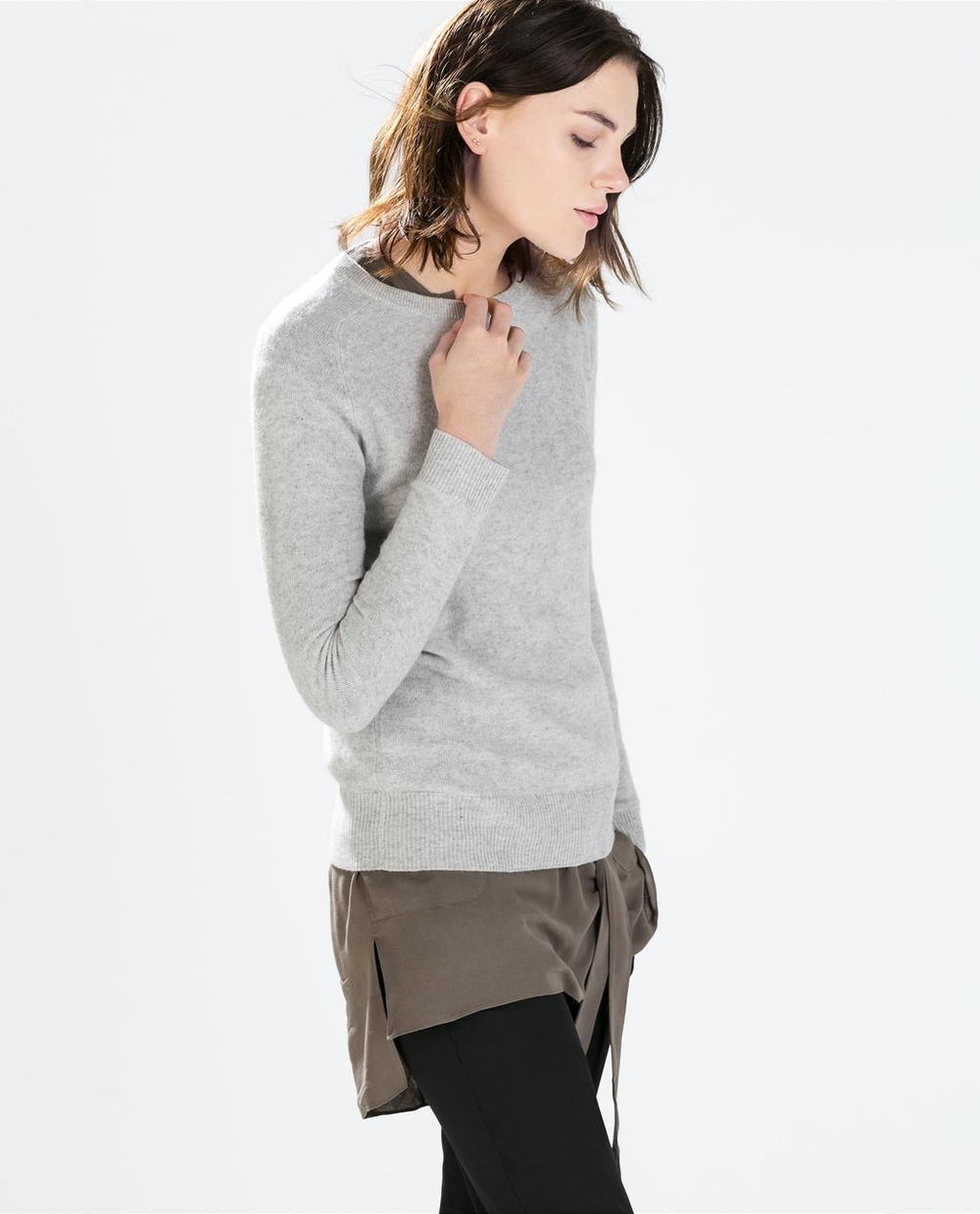 Zara - Cashmere Sweater £89.99 also in navy.