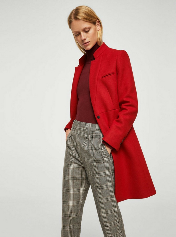 Mango Red Coat