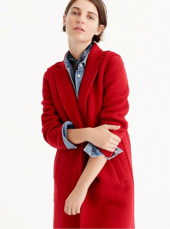 J Crew Red Coat