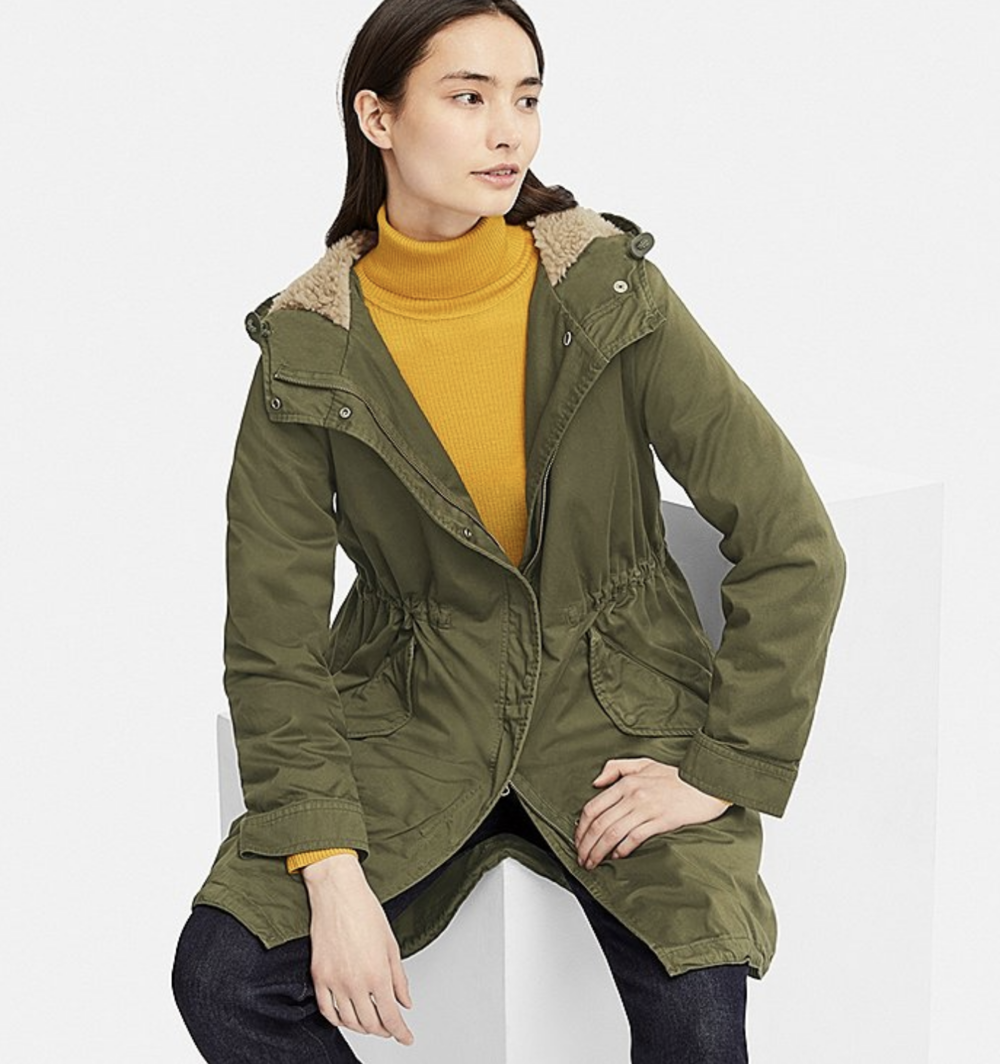 uniqlo parka lizzie edwards  image consultant london