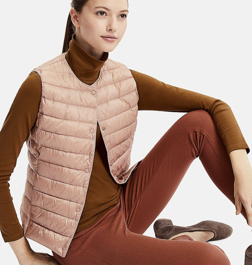 uniqlo body warmer lizzie edwards image consultant london