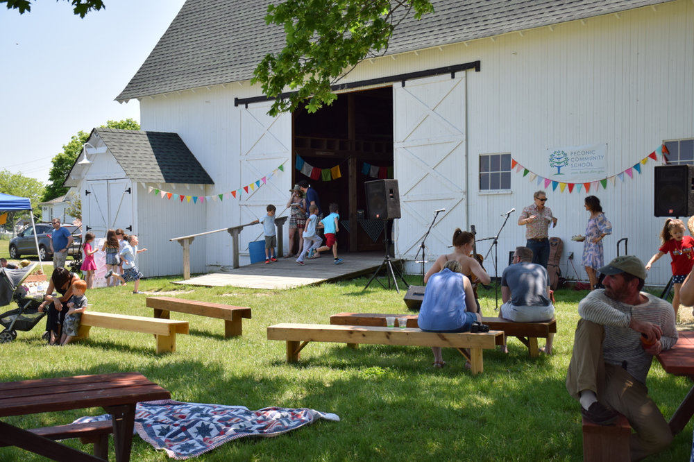 Spring Fundraiser at Hallockville Museum Farm sponsored by community businesses, organizations, and individuals, and organized in large part by PCS community volunteers.