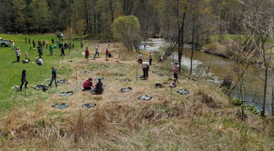 The Mill Brook Watershed Group , in Windsor County, brought public awareness to flood resiliency with stream table demonstrations and teacher trainings and took action with riparian buffer plantings and dam and berm removals.