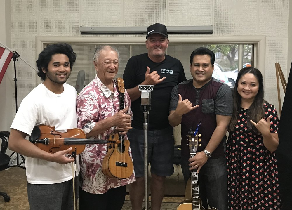 A 3-generation family band singing and playing contemporary and traditional Hawaiian music. The band consists of: Grandpa Allen Victor a retired Pastor from the Big Island of Kona Hawaii, his son Michael, and grandson M.C.