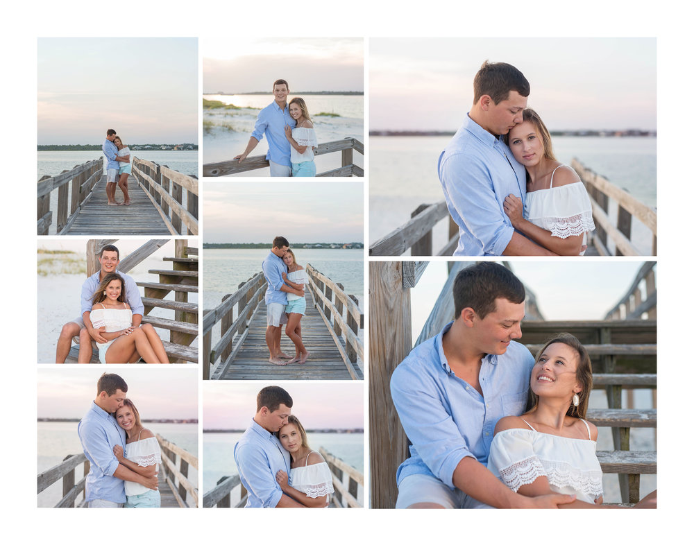 Golf Coast Couple's Portrait Photography