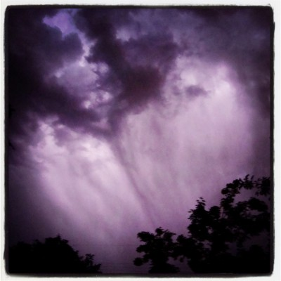 summer storm purple rain