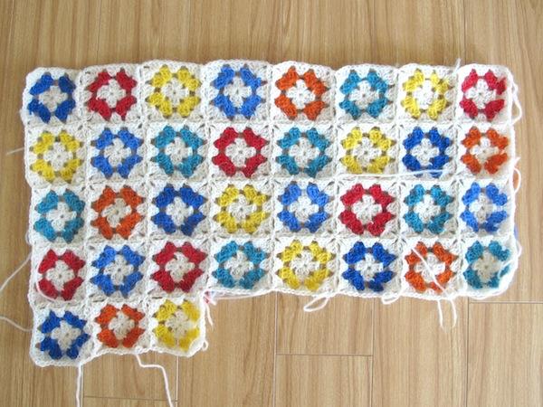 granny blanket in progress