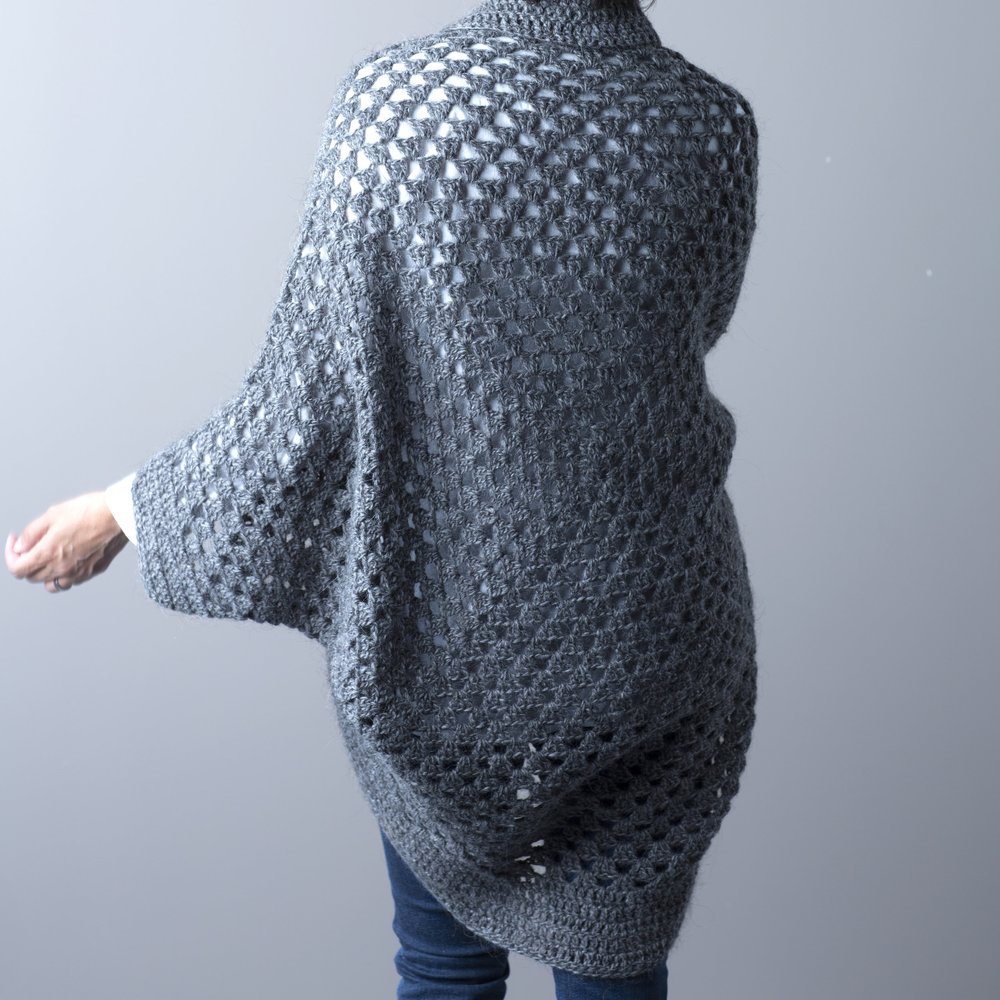 Granny Cocoon Shrug by Rove Handmade