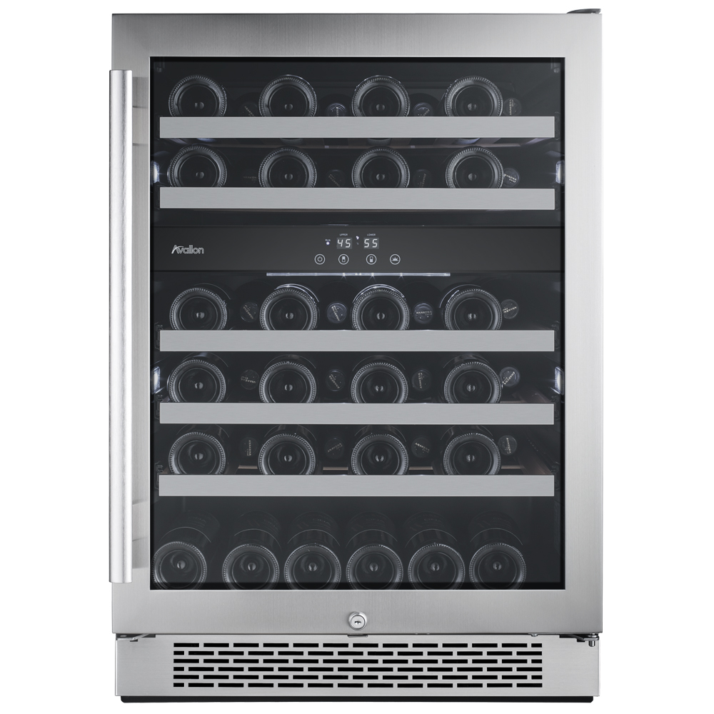 AWC241DZ Avallon 46 Bottle Built-In Dual Zone Wine Cooler
