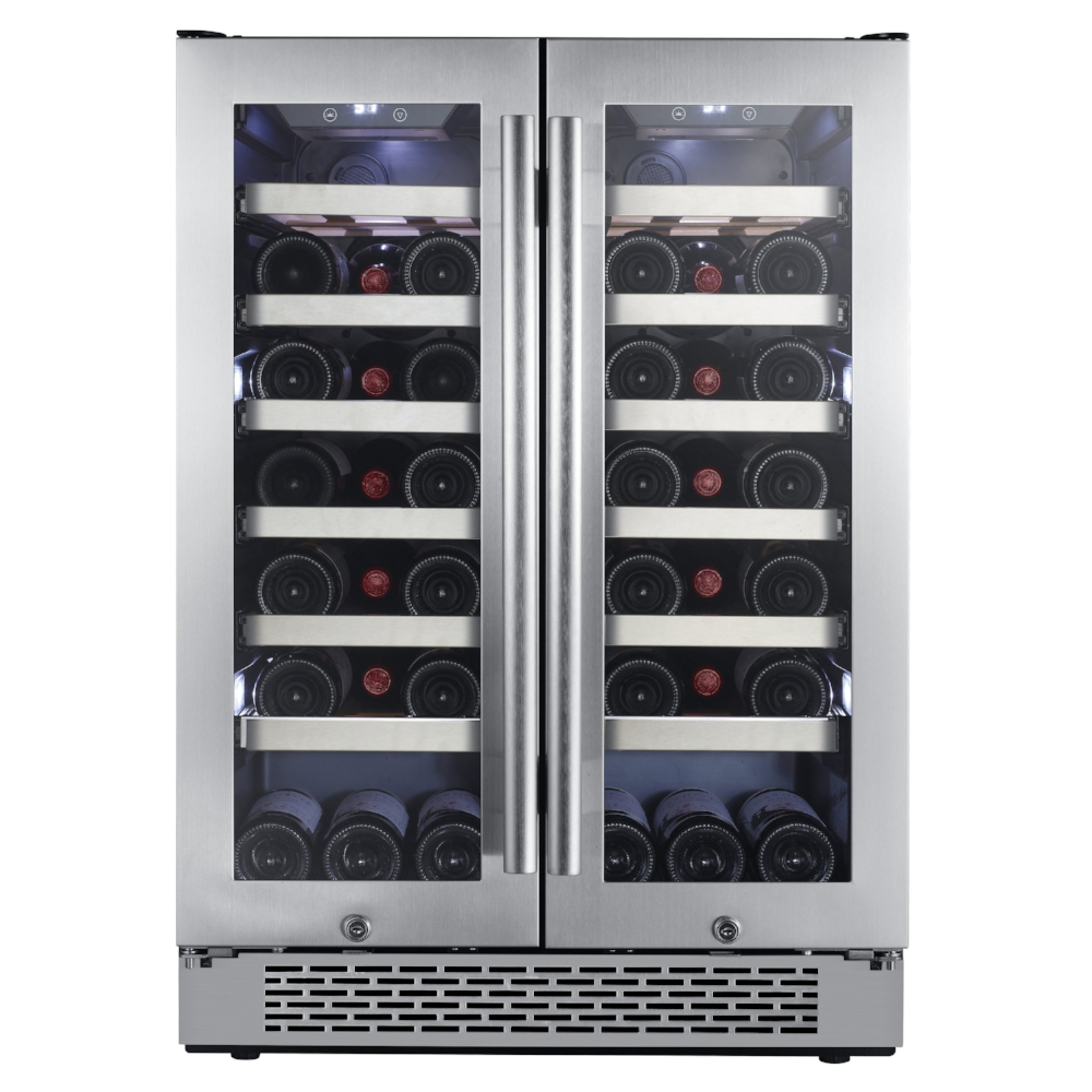 AWC241FD Avallon 42 Bottle Built-In Dual Zone Wine Cooler