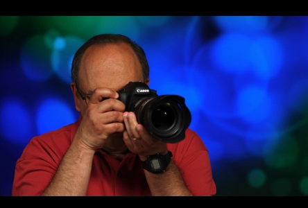 Rudy Winston demonstrates proper camera holding