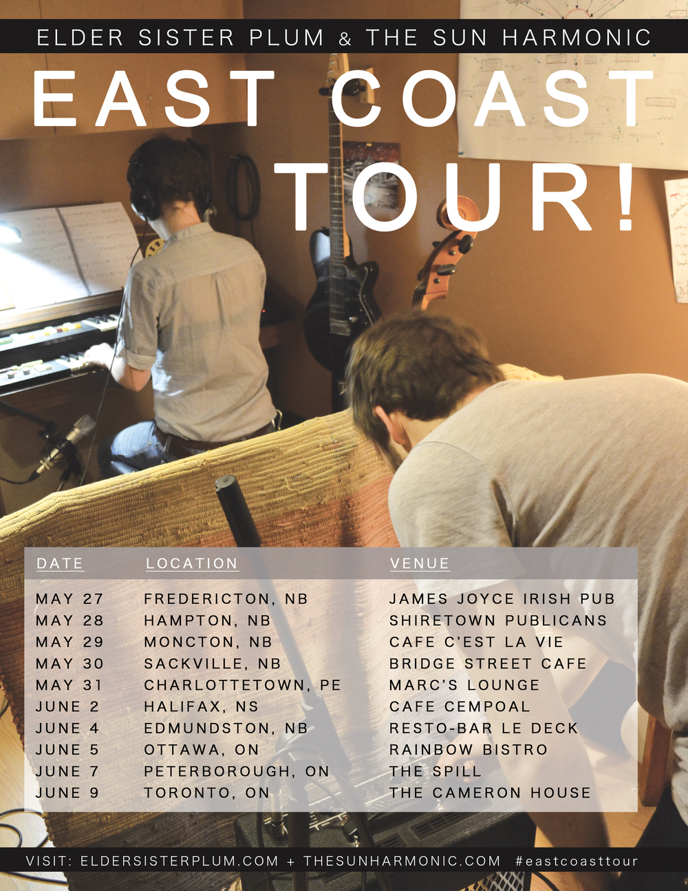 East Coast Tour poster
