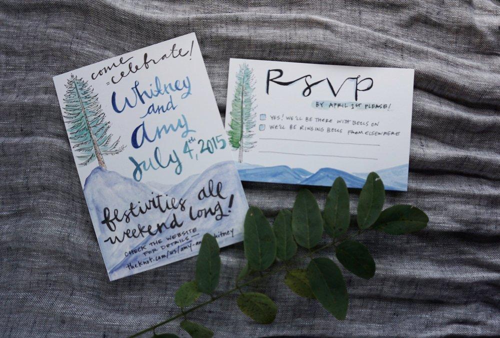 Whitney and Amy's Oregon Mountain Wedding