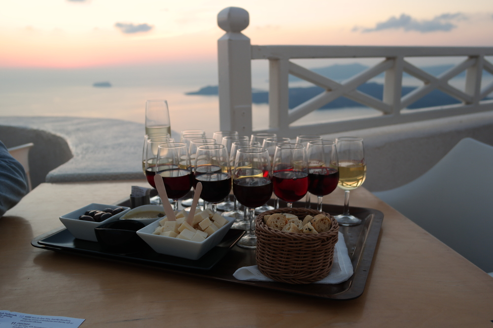 Do not miss the sampler tray nor the view at Santo Wines