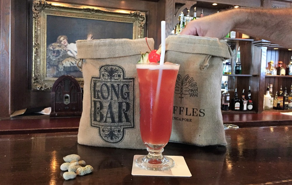 singapore sling at long bar