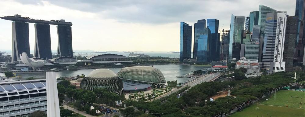 singapore morning skyline
