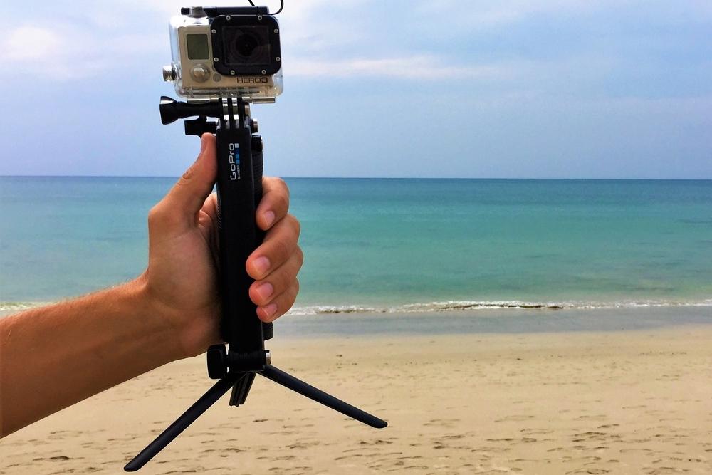 GoPro 3way mount... glorified selfie stick