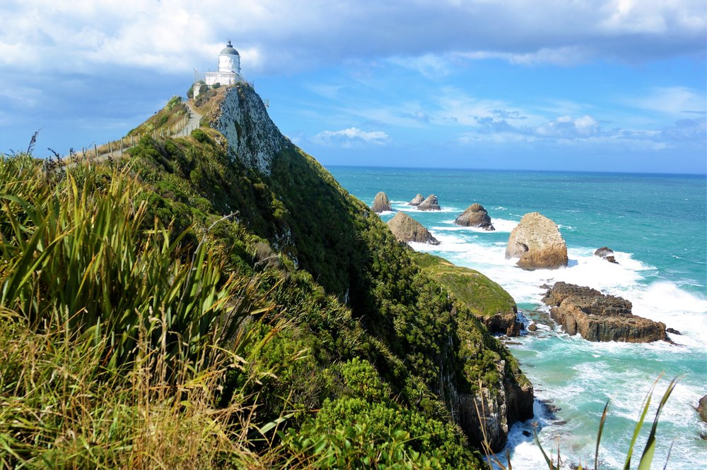 """The Nugget Point Lighthouse is not """"on-the-way"""" for most routes but DEFINITELY worth the stop."""
