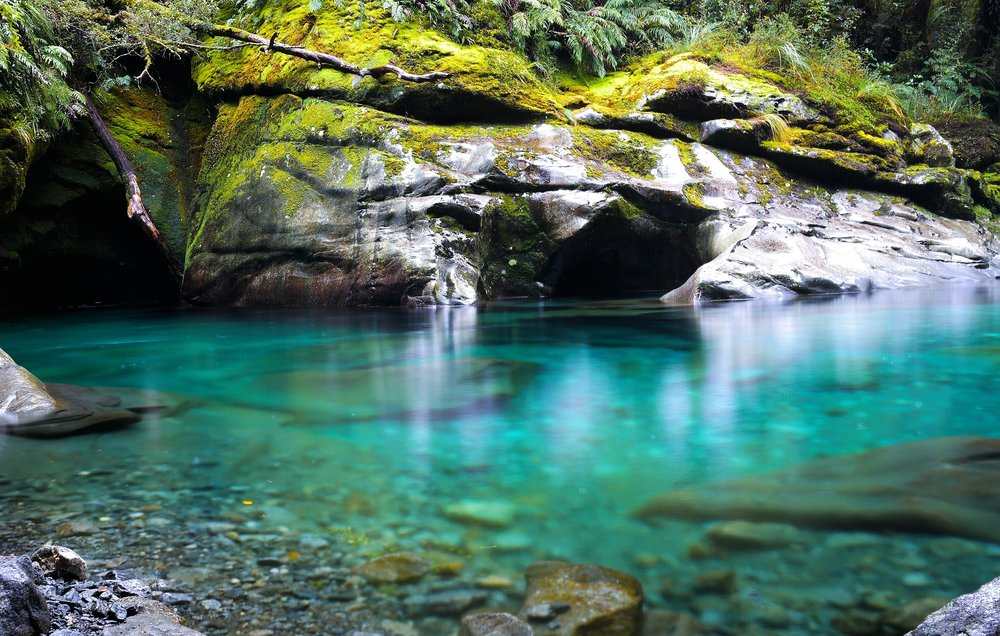 New Zealand has some of the clearest water on earth - partly because it's FREEZING cold!