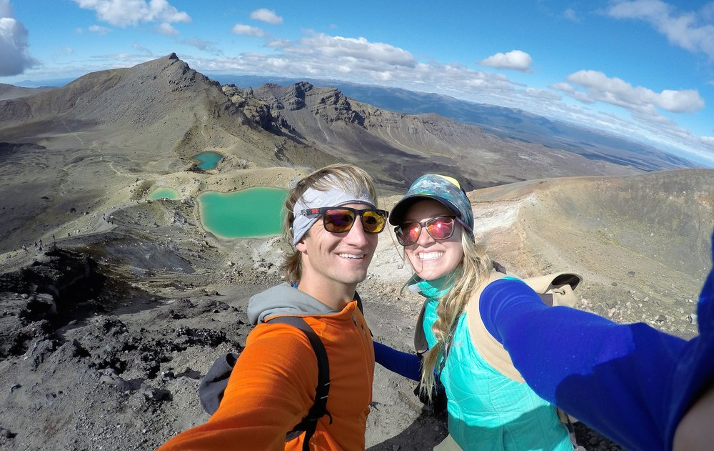 The Tongariro Alpine Crossing is a day hike from point A to B. You have to get transportation back to your car --- don't forget or you'll be stranded 8 hours away from your starting point!