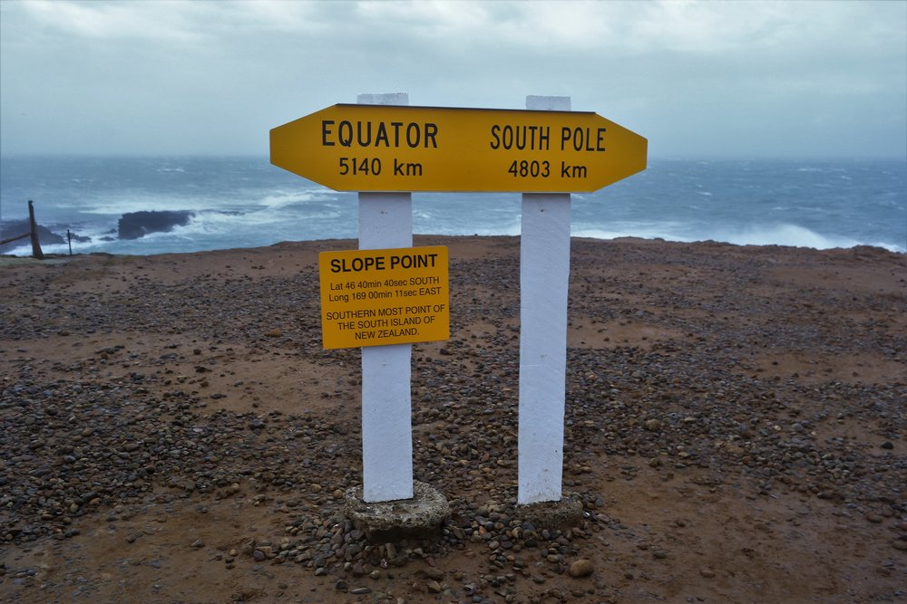 southern most point, NZ