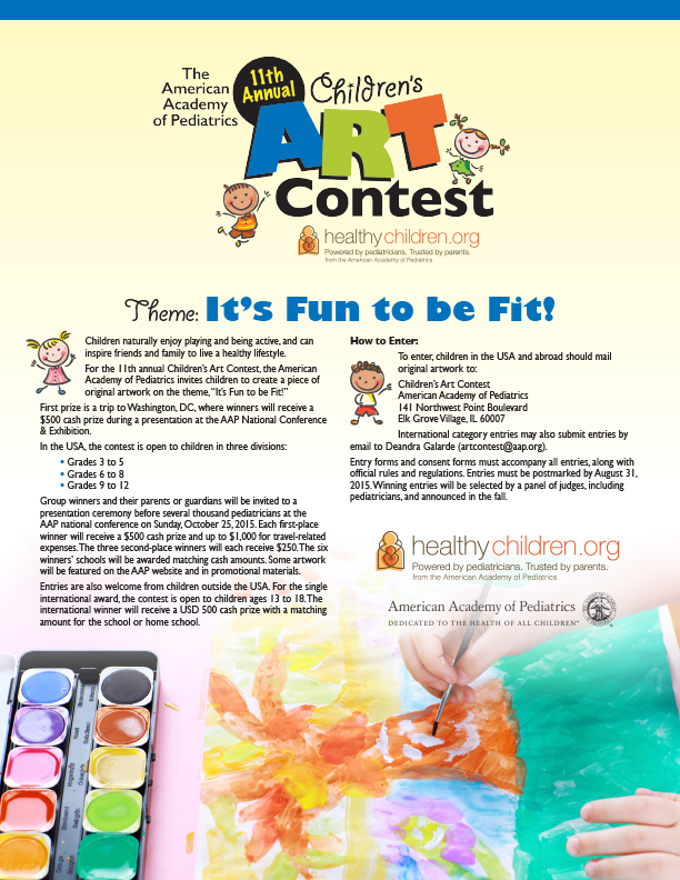 Help Spread The Word About 2015 Childrens Art Contest