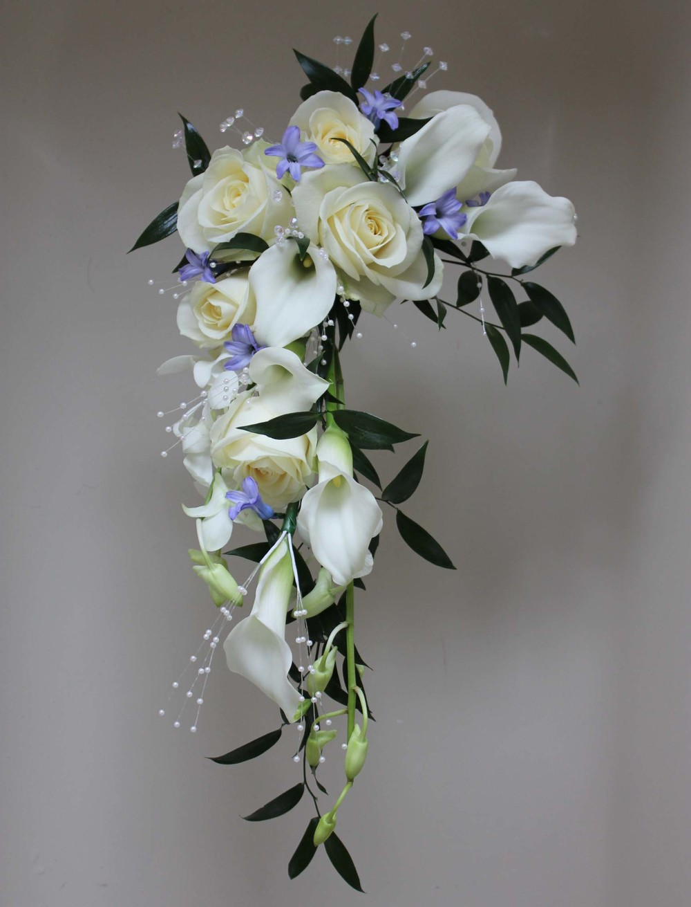 Brides Crescent Shower Wedding Bouquet Barnsley Huddersfield Sheffield Bagden Hall