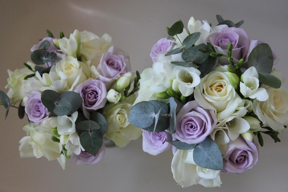 Lilac Bridesmaids Bouquets. Florist Barnsley Huddersfield Sheffield Bagden Hall Wakefield