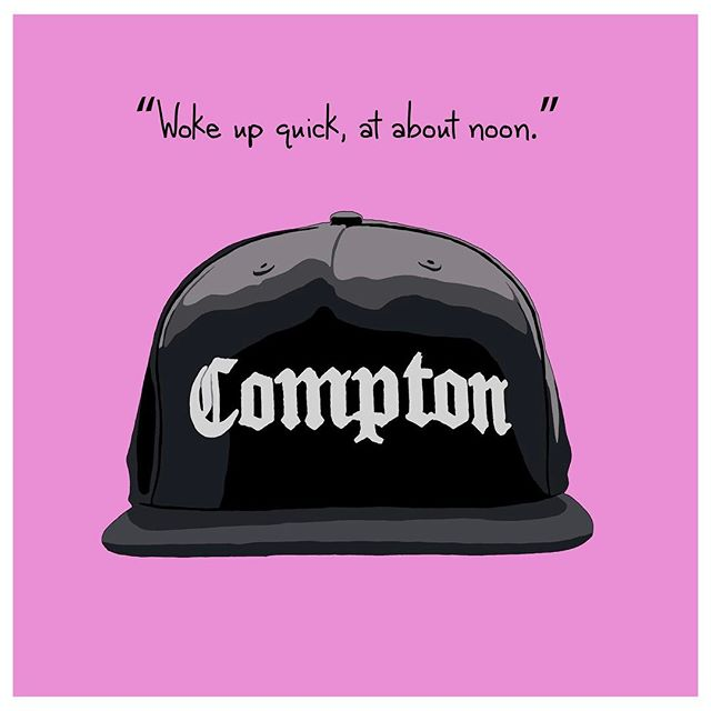 From my Rap Top Collection - check them out at www.jkleeberg.com to see all 6! #hiphopart #rapart #hiphop #rap #nwa #eazye #compton #musicart