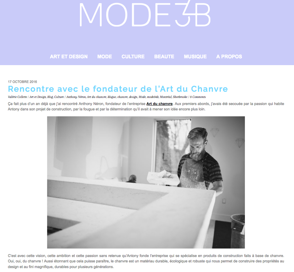 MODE 34B, Octobre 2016