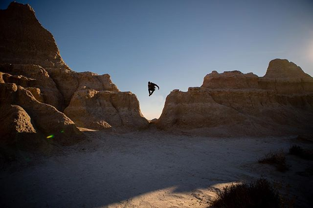 Busting sweet jumps in the Badlands.  #hifromsd