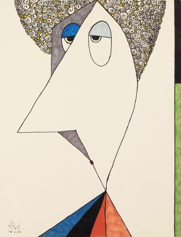 A self portrait by Kurt Vonnegut