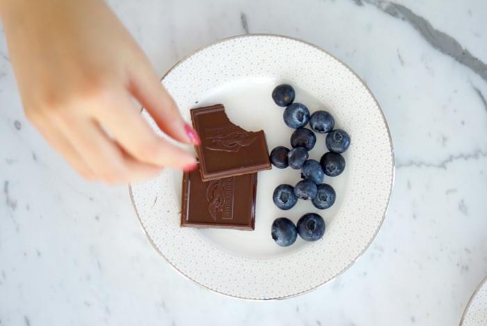 Ghirardelli & blueberries