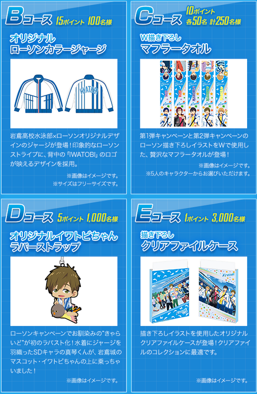 Free Endless Summer character goods from Lawson